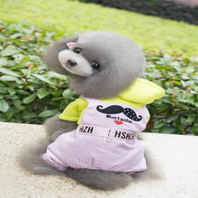 The New Pets Style clothes Winter Pet Clothes For Dogs Clothes Pet Small Moustache Pattern Four Leg Pants Suit All Pets Cats