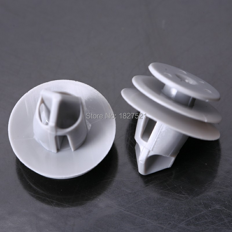 US $17 09 10% OFF 100pcs OEM Gray Door Trim Panel Retainer Clip 18x12mm for  Honda for Acura 91560 SLJ J01 91560SLJJ01-in Auto Fastener & Clip from
