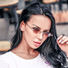 DPZ Fashion Trend Slim Oval Metal Frame SteamPunk Sunglasses Small Cool Vintage