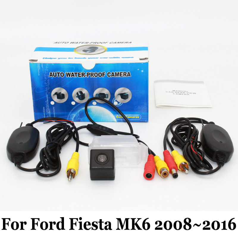 For Ford Fiesta MK6 2008~2016 / RCA AUX Wired Or Wireless / CCD Night Vision / HD Wide Lens Angle / Car Rear View Camera wired hd ccd ip68 waterproof 170 wide angle ir night vision car rearview camera for vw new bora