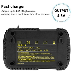 Image 4 - Dcb118 Dcb112 Replacement Battery Charger 4.5A Lithium Ion Fast Charger For Dewalt Dcb205 Dcb206 Dcb203Bt Dcb204Bt Dcb127 Dcb1