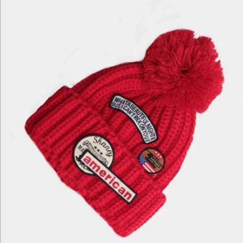 2016 Autumn Winter Hot Sale Multicolor Woman Men Knitted Hat Vintage Patch Beanie Skullies Outdoors Causal Sport Ski Caps rwby letter hot sale wool beanie female winter hat men