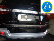 New ! For Ford Everest 2016 Stainless Steel Rear Tail Trunk Lid Cover Trim 1 Pcs