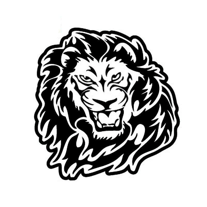 50*50CM Lionhead Reflective Stickers Car Stickers Front of The Spare Tire LION Animal Animals Lion's Head Door Stickers CT-604 reflective front mitsubishi shelf reflective car stickers ling yue v3 lancer car stickers