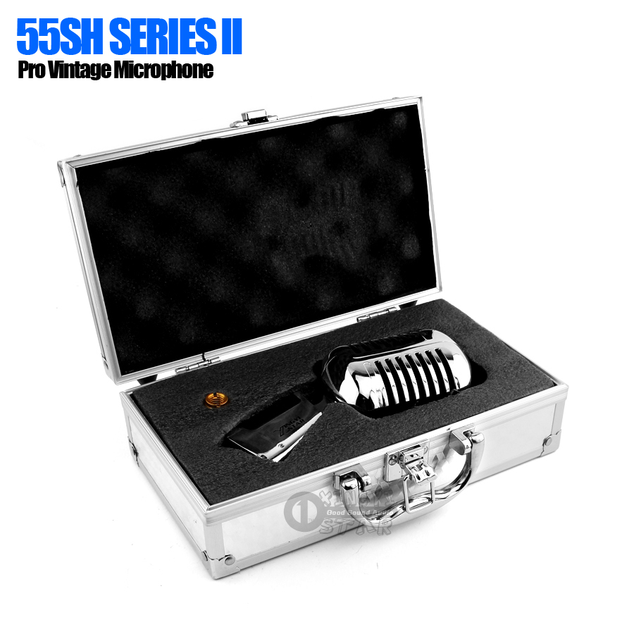 55 SH 55SH Series ll Pro Metal Classic Deluxe Dynamic Microphone Retro Vintage Mic For Sing