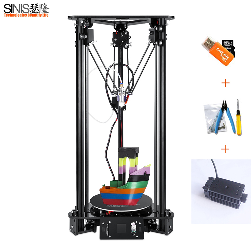 3D Printer For Kossel Linear Delta Large Printing Size LCD Screen 1000MW Laser Engraving 3D Printer