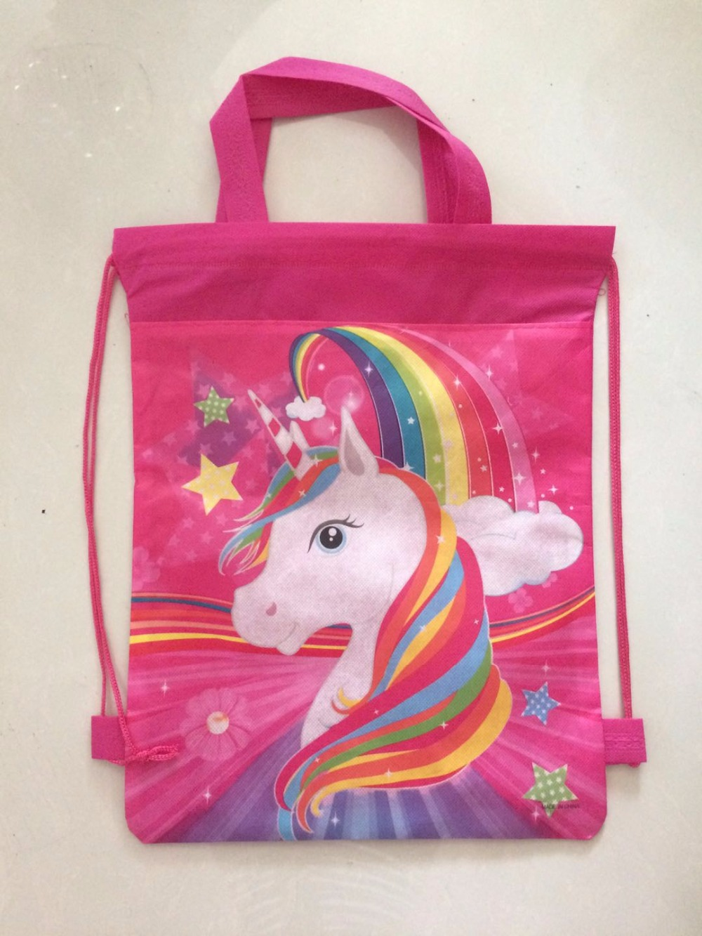 toddler backpack unicorn Backpack School Bag for runner , waterproof shoe bag for kids gift birthday gift stuff supplies zoo animal sweetheart backpack toddler pouch non woven string shoe shourlder school bag for boy and girls birthday party gift
