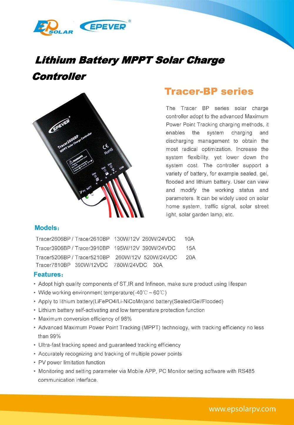 mppt, tracer2606bp 12 v 24 v bateria