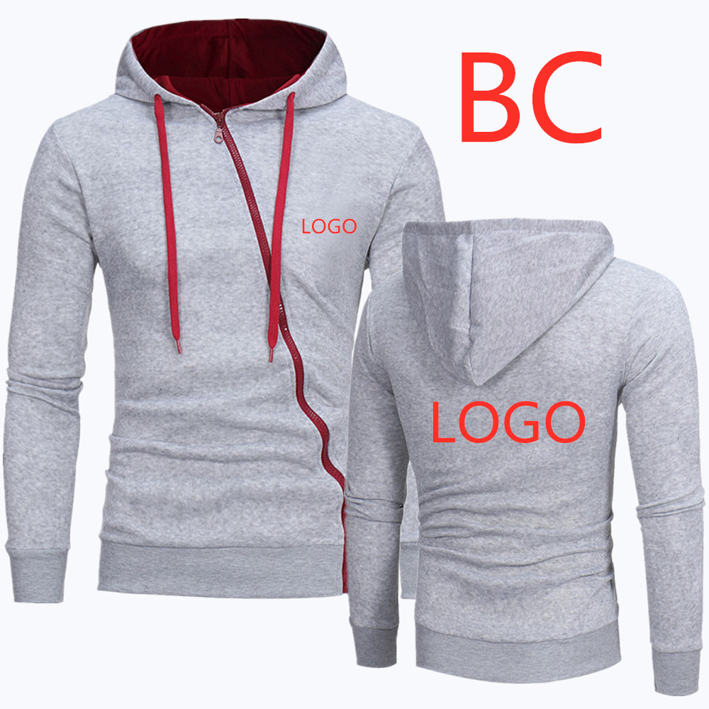 BC For Men's Motocycle Hoodies Zipper Diagonal Mans Classic Hoody Male Popular Hoodies Men's Printed Pattern Sweatshirts Jackets
