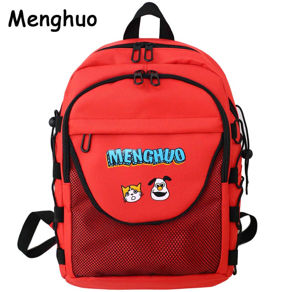 c2efa301d831 Menghuo Модный женский рюкзак для школы для девочек-подростков Мультфильм  стильный женская школьная сумка нейлоновый