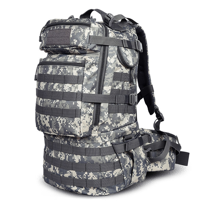 Military Camouflage Tactical Assault Molle 3 Day Backpack Hydration Pack Outdoor Sports Camping Hiking Survival Travel Bag 40l tactical molle backpack military assault pack waterproof rucksack hiking camping travel large school lantop backpack