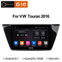 "10.1 ""Android 8.1 gb RAM Quad Core 2 + 16 gb ROM DVD Player Do Carro Para Volkswagen VW Touran 2016 GPS Navigation Radio Stereo BT 4g WI-FI(China)"