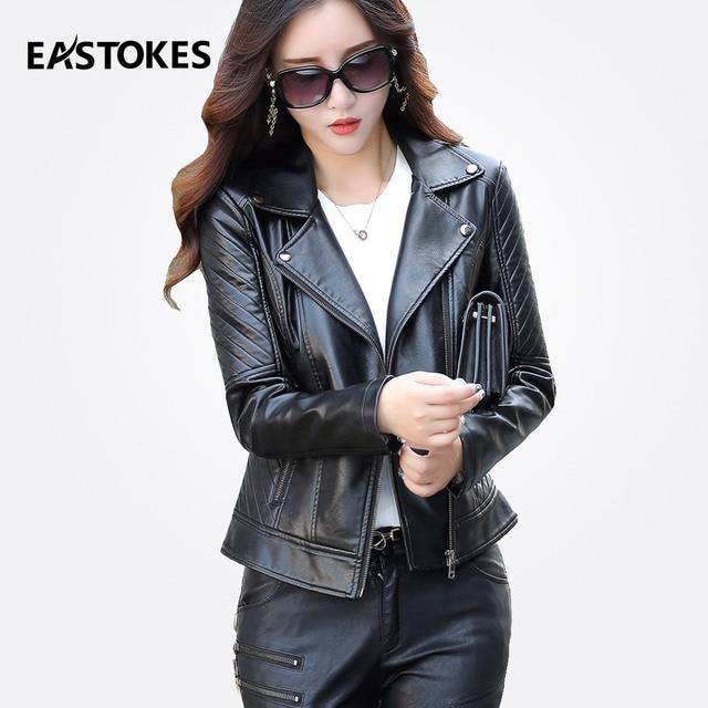 3861d00658d Vintage Look Women Leather Jacket With Studded lapels Ladies Biker Coats  Female Faux Leather Jackets Women Outfits