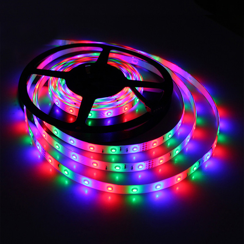 Tanbaby SMD3014 5M LED strip light 60Leds/M IP65 Waterproof Multicolor Indoor/Outdoor decoration flexible tape DC12V