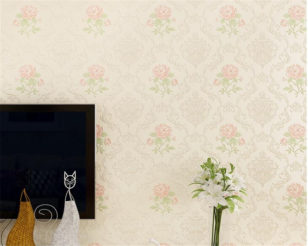 Beibehang Pastoral Style 3d Stereo Relief Wallpaper Bedroom Full House Wallpaper Living Room Sofa Background 3d Wallpaper Roll beibehang stereo 3d nonwoven fabric wallpaper warm bedroom living room full of european style pastoral flowers wallpaper behang