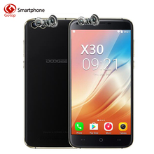 Doogee X30 MT6580 Quad Core Smartphone 5.5 inch Android 7.0 CellPhone 2M RAM 16G ROM 4 Cameras 3360mAh Big Battery Mobile Phone(China)