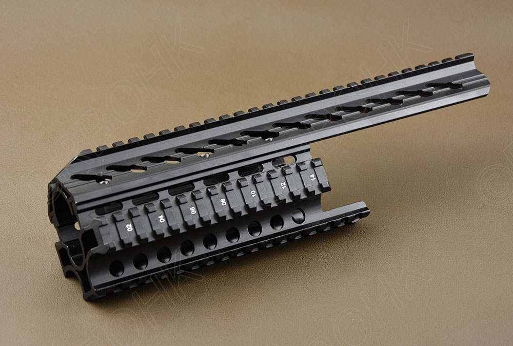 Tactical AK Galil rifle Quad 20 mm sides Picatinny Handguard Rail System Aluminium Alloy R4253