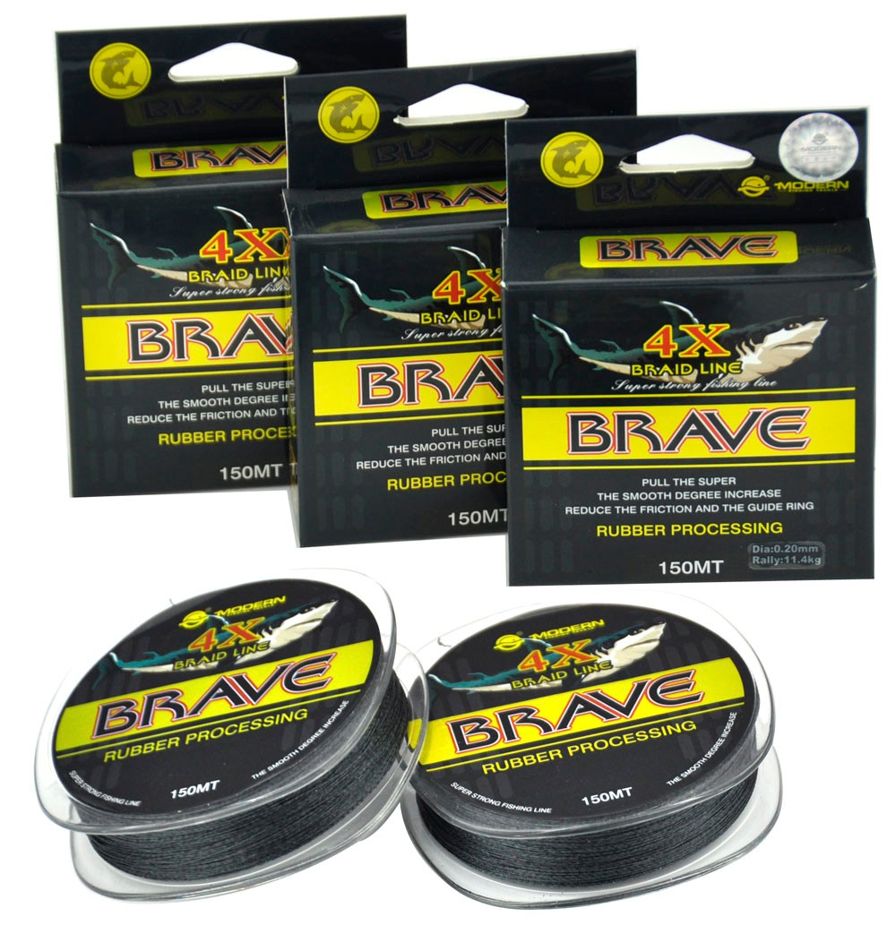 150M 4X BRAVE MODERN FISHING Brand1M 1Color Japan Multifilament PE braided fishing line 8 10 15  25 30 35 40 45 50LB new 15 3