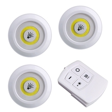 3pcs Led Night Lights Wireless Led Remote Control Battery Under Cabinet Night Light Wall Lamp Remote Controller Night Lamp цены онлайн