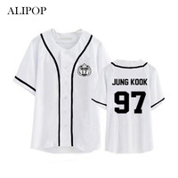 ALIPOP Kpop BTS Bangtan Boys Album Cardigan Shirts Clothes Loose Tshirt T Shirt Short Sleeve Tops