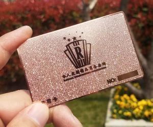Image 1 - 스테인레스 금속 카드 인쇄 사용자 정의 200 개/몫 구멍 펀치 레이저 컷 회원 카드 무료 배송