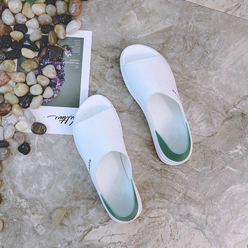 2019 New Fashion Women Sandals Summer Platform Sandal Shoes Woman Peep Toe Leather Beach Flat Casual Sandalias Mujer Plus Size