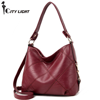 Women  Shoulder Bag Female Leisure  Casual Handbag Hobo Messenger Top-handle bags soft small shoulder bag