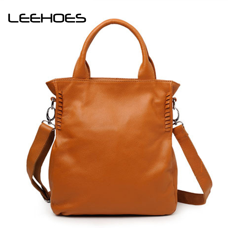 100% Genuine Leather Women's Shoulder Bags Ladies Shopping Handbags Soft Female Cowhide Purse Satchel Tote Bag women handbags pumping bucket bag shoulder messenger bag cow leather ladies purse casual shopping bags satchel capacity tote