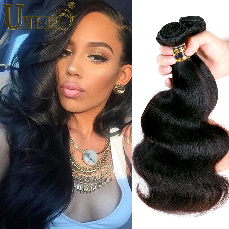 Brazilian Virgin Hair Body Wave 3 Bundles Queen Hair Products Brazilian Body Wave Cheap Brazilian Hair Weave Bundles 100g/pc