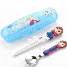 Disney посуда Дети Обучающие палочки для еды для учебные палочки для еды вспомогательные палочки для еды учебные палочки для еды ложка набор