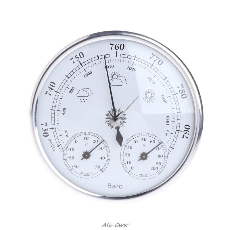 Hogar estación barómetro del higrómetro del termómetro colgando de la pared de alta precisión medidor de presión de aire tiempo instrumento
