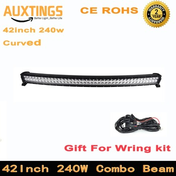"""Curved led light bar FREE SHIPPING 42""""inch 240w COMBO Beam 42 inch led light bar 12V led driving lights for cars and truck"""