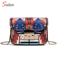 Brand New Retro Women Messenger Bags Mini Crossbody Bag High Quality PU Leather Tote Bag Small