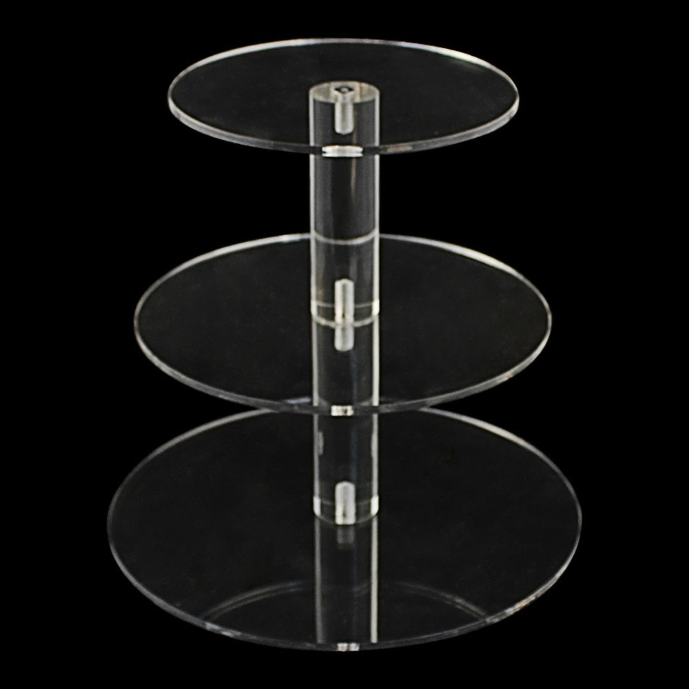 3 Tier Crystal Clear Circle Acrylic Round Cupcake Stand for Wedding Party Cake Display Decor Cake Tools Bakeware Kitchen Dining-in Stands from Home u0026 Garden ... & 3 Tier Crystal Clear Circle Acrylic Round Cupcake Stand for Wedding ...