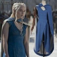 Game of Thrones cosplay costume women princess Daenerys Targaryen dress Daenerys Targaryen costume cosplay Halloween costumes