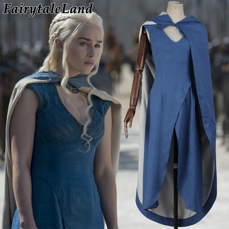 Game of Thrones cosplay kostüm frauen prinzessin Daenerys Targaryen kleid Daenerys Targaryen kostüm cosplay Halloween kostüme