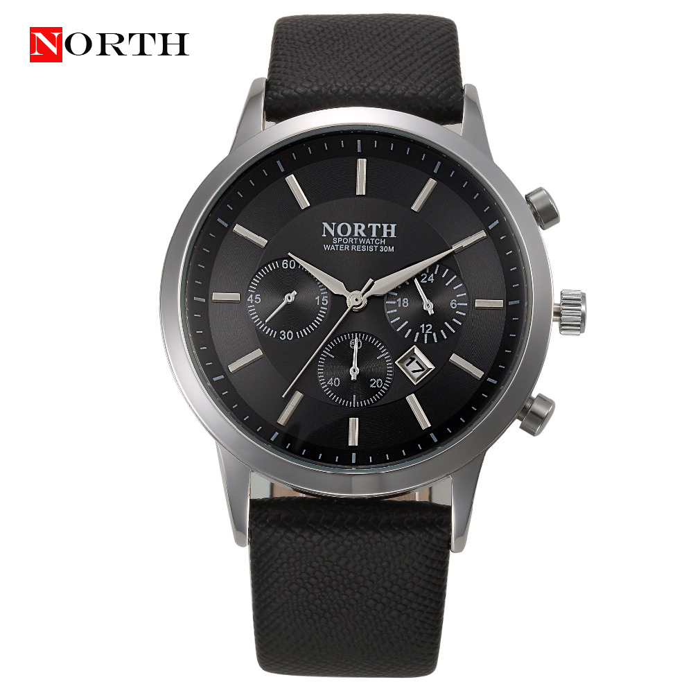 Relogio Masculino Men Watch 2016 Mens NORTH Leather Casual ...