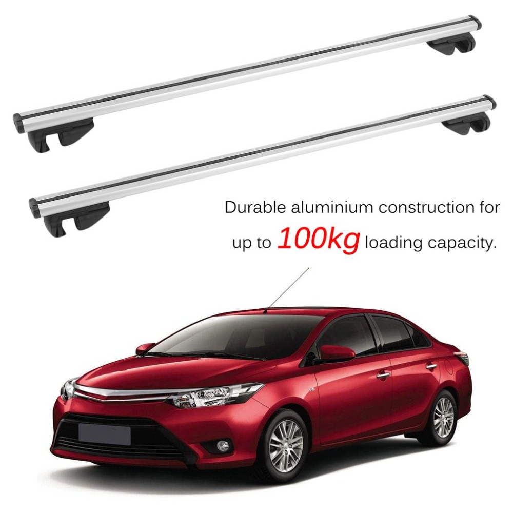 132CM Car Roof Rack Lockable Car Cross Bars Universal Cargo Luggage Carrier Lightweight Roof Rail With Anti-Theft Lock partol 110cm universal car roof rack cross bars crossbars with anti theft 68 kg 150lbs aluminum cargo luggage top carrier