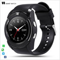 Full Screen V8 Smart Watch Clock With Sim TF Card Slot Bluetooth Connectivity for Apple iPhone Android Phone Smartwatch Watch