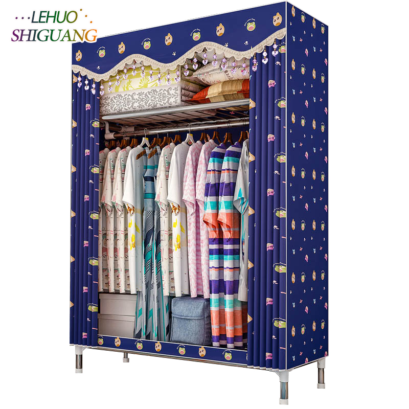 25mm thick steel pipe Fashion Non-woven fabric wardrobe Standing Storage Organizer closet cabinet Home bedroom Furniture fashion home furniture bedroom non woven fabric family wardrobe standing storage organizer closet cabinet high foot shelf