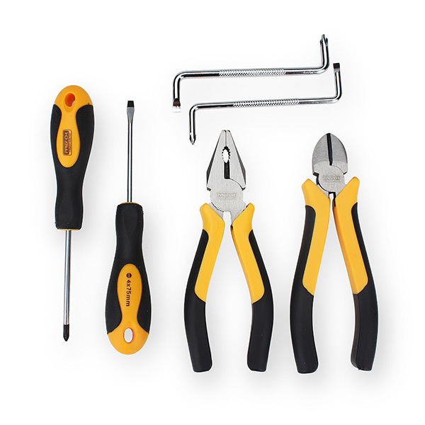 ФОТО 6pcs Screwdriver and Pliers Soft Handle Tool Set for DIY