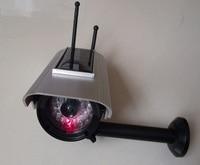 Dummy Solar Powered Fake CCTV Camera Outdoor Waterproof IR LED Emulational Camera False Monitor Free Shipping