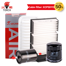 TORCH(Oil filter/air filter/cabin filter/fuel filter)Four filters suit for Geely Panda 1.0L/1.3L; Free shipping .