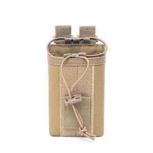 Image 3 - 1000D нейлоновый Открытый тактический Чехол, спортивная подвеска, военный Молл, радио, держатель рации, сумка для охоты, журнальные карманы