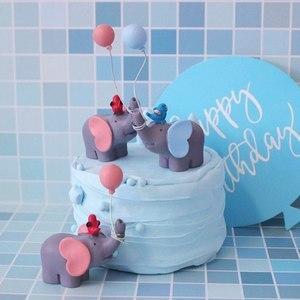 Image 1 - Leuke Ballon Vogel Olifant Animal Party Cake Topper Baby Shower Jongen Meisje Verjaardagsfeestje Decoraties Kids Gelukkige Verjaardag Geschenken