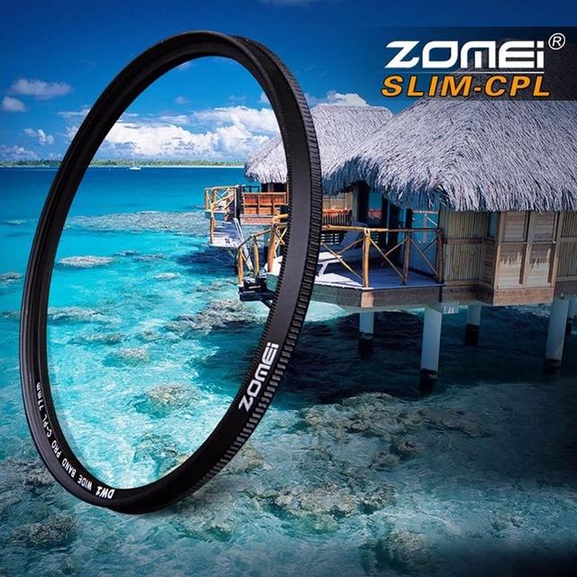 Zomei 49/52/55/58/62/67/72/77/82/86 Pro Slim CPL Filter Circular-Polarizing Polarizer Lens Filters for Canon Nikon Sony Pentax