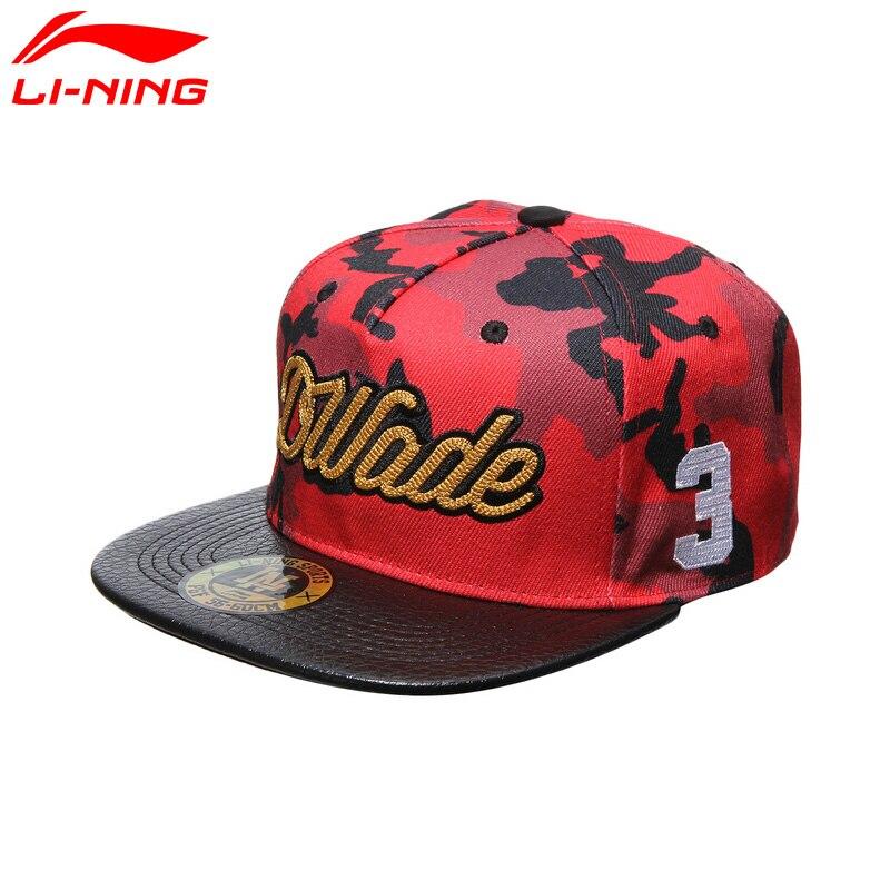 Li-Ning Men Wade Series Snapback Cap Camouflage Polyester LiNing Sports Caps AMYM055 PMQ056 Футболка