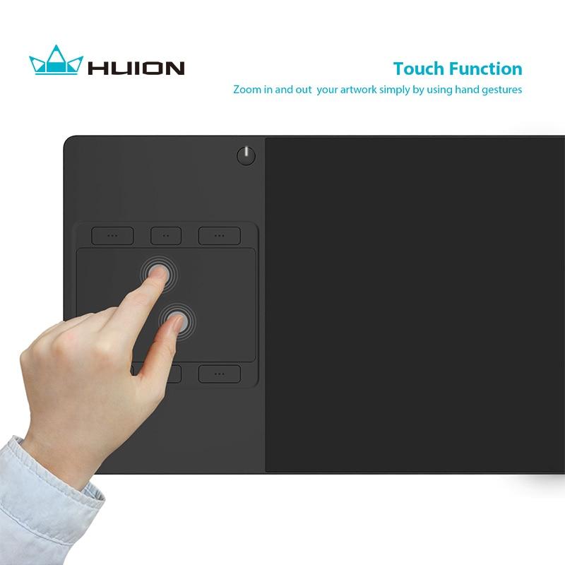 Nuovo Huion G10T Tavoletta Grafica Scheda Grafica Tavolette con Penna Digitale Professionale con il Dito Senza Fili di Tocco di Funzione e Regalo Libero Guanto