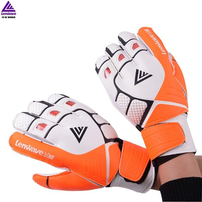 Global Soccer Player Sponge Goalkeeper Gloves Sponge Rubber Glove 6 9 10 Size soccer gloves Fingers Protective Gloves Safeguard