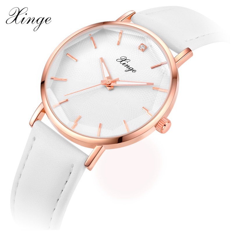 Xinge Women Watches Luxury Leather Casual Fashion 2017 New Arrival Dress Quartz Wristwatches Women Ladies Simple Sport Watch new 2017 popular women casual watch ladies leather luxury watches woman sport quartz wristwatches simple female clock hours gift